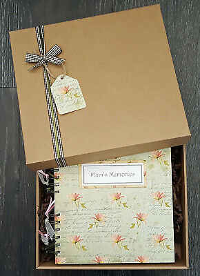 "Mum's Memory Book, Mothers Day Gift, 8""x8"" boxed scrapbook, can be personalised"