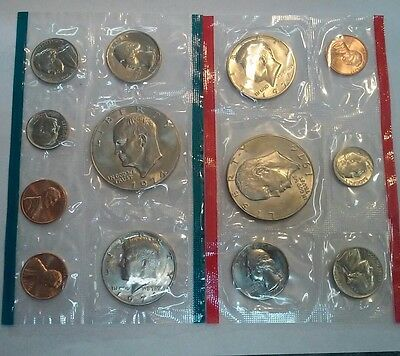1974 United States US Mint Uncirculated Coin Set