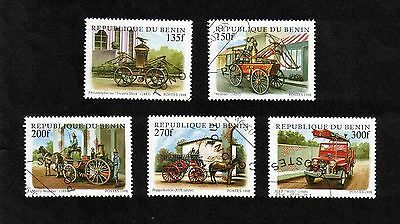 Benin 1998 Fire Engines short set of 5 values used