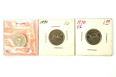 Lot Of Three 5 Cent Coins Canada 1970 And 1981