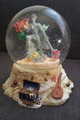 Disney The Little Mermaid Ariel Prince Eric Statue Snow Globe Part Of Your World