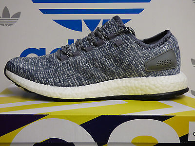 NEW AUTHENTIC ADIDAS Pureboost Men's Running Shoes - Grey/White;  BA8900
