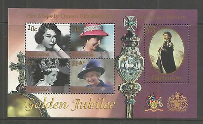 Barbados 2002 Golden Jubilee Minisheet Sg,ms1206 Um/m Nh Lot 9596A