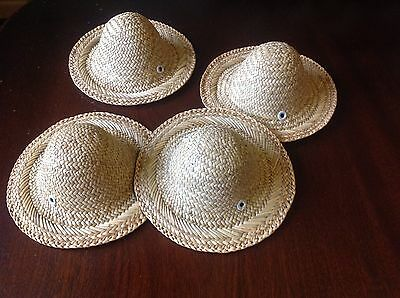 4 x straw hats, Easter bonnets, crafts. New
