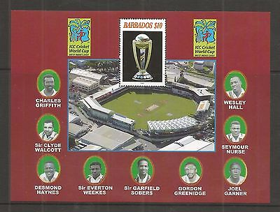 Barbados 2007 Cricket World Cup  Minisheet Sg,ms1309 Um/m Nh Lot 157L