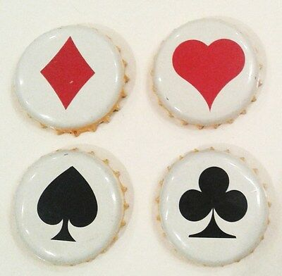 4 X Chapa Set Cerveza Poker ¡ Colombia Kronkorken Bottle Cap Crown Cap Beer Pivo
