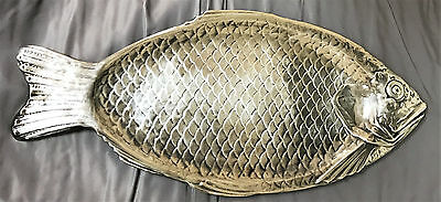 "Vintage REED & BARTON Silverplated Platter Fish 22.5"" Serving Dish #100-A"