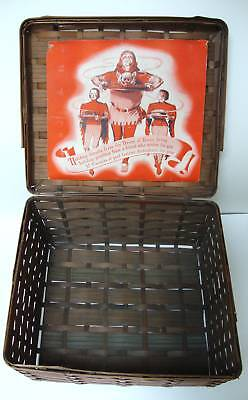 SCARCE EARLY HEINZ CHRISTMAS GIFT BASKET  1920-30's