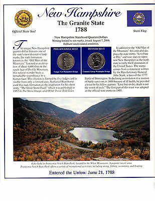 State Of New Hampshire Collectible With State Quarters Stamps And Lots More*-