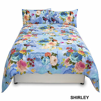 Luxury Duvet Cover with Pillow Case Quilt Cover Bedding (Suri Shirley) King