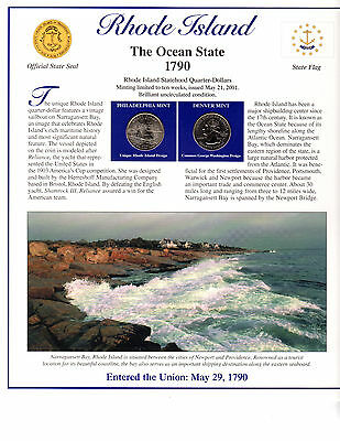 State Of Rhode Island Collectible With State Quarters Stamps And Lots More*-