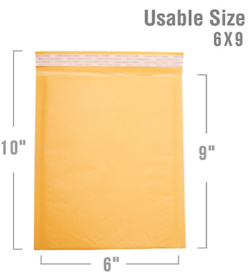 "500 #0 6x10 Kraft Bubble Mailers Self Seal Padded Shipping Envelopes 6""x10"""
