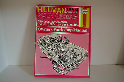 Hillman Chrysler Avenger USED Haynes Workshop Repair Manual 1970-1978 (037)