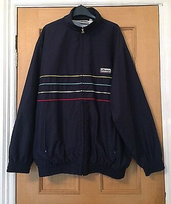 Men's Blue Vintage ELLESSE Tracksuit Zipped Jacket XL