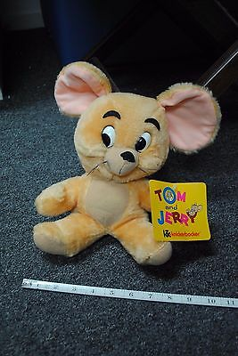 NOS Tom and Jerry Mouse Vintage Knickerbocker 1976 Plush Stuffed Animal Doll Tag