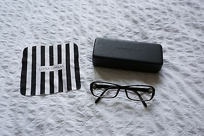 Jasper Conran spectacles glasses frames in Black with cloth and case