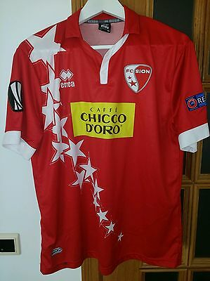 FC SION (SWITZERLAND) OFFICIAL MATCHWORN HOME SHIRT #31 **Europa League**