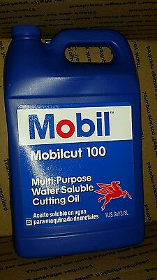 MOBIL 103477 Cutting Oil 1 gal, Can MULTI PURPOSE water soluble  MOBILCUT 100