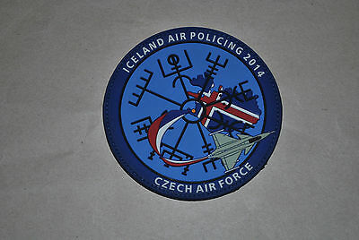 Czech Airforce Iceland Air Policing 2014 Pvc Patch