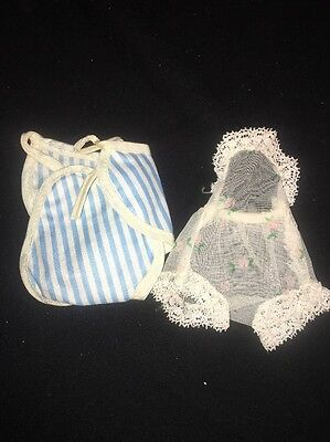 "VINTAGE BETSY MCCALL BLUE & WHITE STRIPED SUNSUIT ROMPER  Undergarment  8"" Doll"