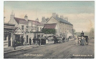 PPC: High Street, Esher 1906 with Inn, possibly the Bear