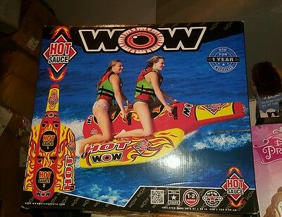 HOT SAUCE 2P  towable water-ski inflatable tube NEW 2016 16-1050 WOW watersports
