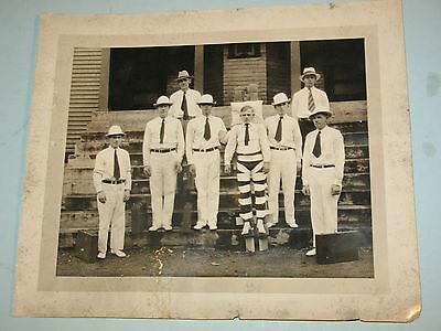 rare 8x10 photo~ INSANE HOSPITAL or EXECUTION with MAN STRAPPED ON BOARD
