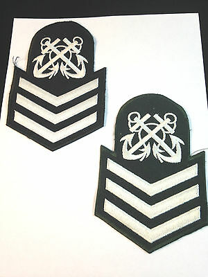 Canadian Navy Cadet *PETTY OFFICER* RANK PATCHES (x2 Different )