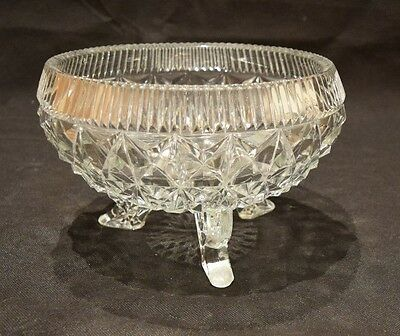 Glass Cut Fruit Bowl - With Legs