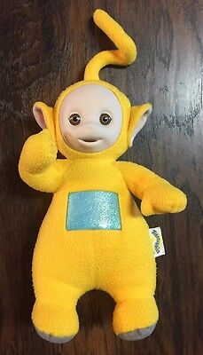 "Cute 1998 ""Teletubbies"" Talking Yellow ""Laa Laa"" 15"" Collectible Plush GUC"