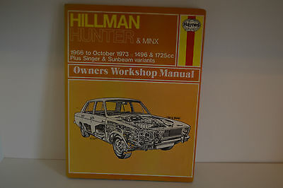 Hillman Hunter & Minx USED Haynes Workshop Service Repair Manual 1966-1973 (033)