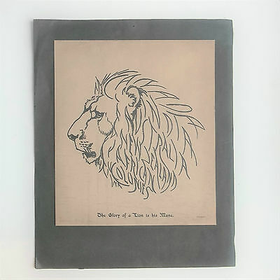 Sketch of BRITISH LION with mane as names of BRITISH EMPIRE. 2 copies