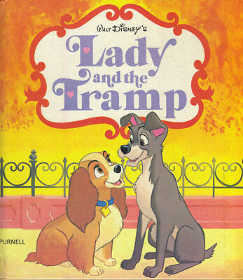 WALT DISNEY'S LADY AND THE TRAMP - PURNELL 1974 1ST EDITION Hardback Book - VGC