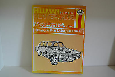 Hillman Chrysler Hunter & Minx USED Haynes Workshop Manual 1966-1977 (033)