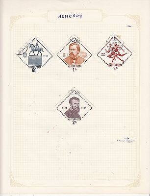 HUNGARY 1964 On Album Page Mostly VFU Items(d) removed for Shipping