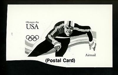 US Stamp FDC Publicity Photo Essay #UXC21 ND 1984 Los Angeles Olympics Skating