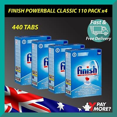 Finish Classic Powerball Regular 440 TABLETS 110 X 4 Dishwasher BULK BUY BARGAIN