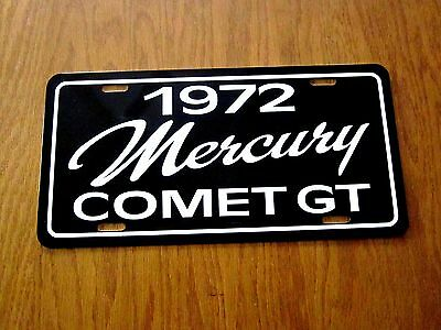1972 Mercury Comet GT License plate tag 72 Compact Performance car  302