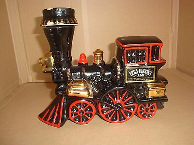 Vintage,1969 Ezra Brooks Heritage China Train Locomotive Whiskey Decanter Empty