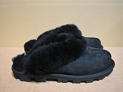 New without Box! UGG Women Coquette Black Slippers size 7 US