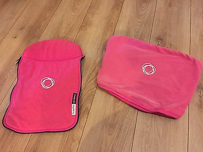 Bugaboo cameleon fleece Hood And Apron Pink Carrycot Fabric Apron Canopy