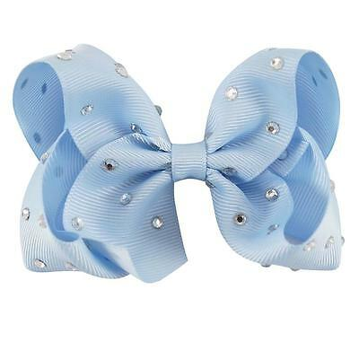 4inch Rhinestone Boutique Bow Girls' Hair Accessories Hair Clip