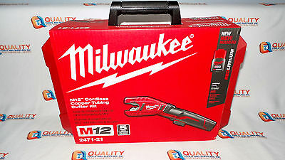New Milwaukee 2471-21 M12 12 Volt Lithium-Ion Cordless Copper Tubing Cutter Kit