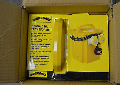 WORKSAFE 3.3kVA 110v Portable Power Transformer, BRAND NEW IN BOX