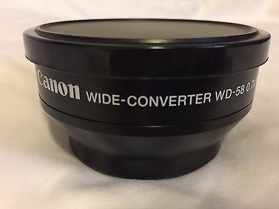 Canon WD-58 58mm 0.7x Wide Angle Converter Lens GL1/2 Camcorder Camera
