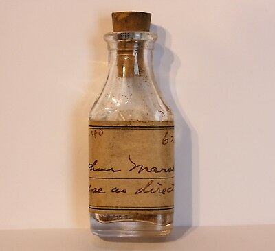 "Dated 1940 Medicine Bottle with Cork by ""Dominion Glass Co."""
