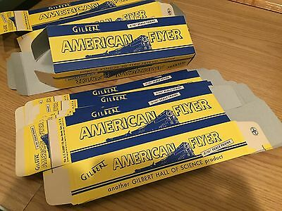 American Flyer Train original 10in. New boxes Lot of 11 from Estate Sale