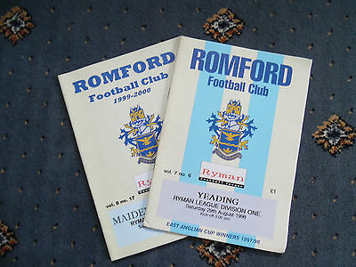 A collection of 2 Romford Football Programmes.