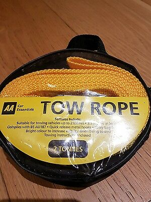 The AA - Tow Rope  3.5m - 2 tonne - in carry bag pack