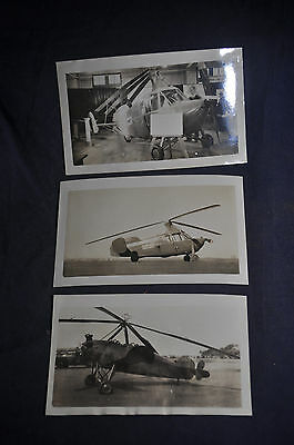 Three Photos of Pitcairn Helicopters [Autogiros]: PA-1A & Roadable Autogiro